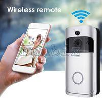 Wholesale wireless door video camera - New Version WiFi Ring Video Doorbell 720P H.264 Night Vision Wireless Video Door Bell Support PIR Function Two-way Audio Smart Home Doorbell