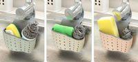Wholesale cloth storage baskets - New Housekeeping Kitchen Sponge Drain Holder Wheat Fiber Sponge Storage Rack Basket Wash Cloth Or Toilet Soap Shelf Organizer