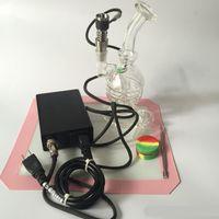 elektronische trockenbox großhandel-Shisha E nagel kit Ti Nagel Glas Bong Dampf Elektronische Temperaturregler Box Für DIY Raucher Dnail Coil Wax Dry Herb box dabber