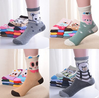 Wholesale cotton candy baby sock online - Kids socks new baby boy girl Summer socks children cotton stocks good quality Cotton Soft Socks Baby Candy Color fit T