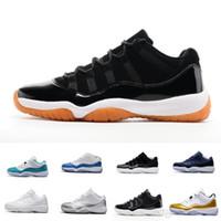 sapatos de porta venda por atacado-2017 Mens 11 Low Barons 11S Preto Tênis De Basquete Para Fora Da Porta Tênis Esportivos para Homens Tamanho US8-13 Real Carbono