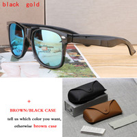 Wholesale Cheap Brands Online - New Fashion Round Sunglasses Brand Designer Eyewear Glasses Men Women Mirrored Cool Sunglasses with cases box Cheap Online sale