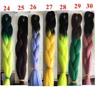 ingrosso estensioni dei capelli di ombre di tono per-Ombre Kanekanlon Intrecciare i capelli sintetici Jumbo Crochet Intrecciare Twist Two Tone sintetico Estensioni dei capelli Customised Colore