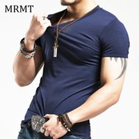 Wholesale black pink clothing for men online - 2018 MRMT Brand Clothing colors V neck Men s T Shirt Men Fashion Tshirts Fitness Casual For Male T shirt S XL