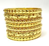 Wholesale Color Metal Bangle - LADYMEE Bracelet Bangles Gold Color Bracelets for Women Wholesale Popular Jewelry Fashion Metal Bangle Indian Bangle Pulseiras