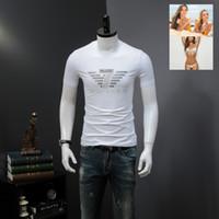 Wholesale flashing tshirts - Men Printed Tshirts Summer Male Fashion Short Sleeved Cotton Tees Clothing for Man Casual Wear