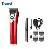 Wholesale new hair cutting men for sale - 100 V kemei New Arrival Electric barber Rechargeable Trimer Professional Hair Clippers Hair Trimmer Cutting Machine for men Tools KM