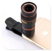 teleskop mobil für iphone großhandel-12X 8X Zoom Optisches Telefon Teleskop Portable Handy Tele Kamera Objektiv Clip für Huawei XiaoMi iPhone Samsung LG SONY
