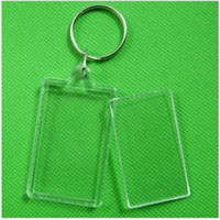 "Wholesale Photo Inserts - 170pcs Blank Acrylic Rectangle Keychains Insert 2""x 1.25""Photo Keyrings (Key ring chain)"
