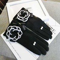 en sıcak kışlık eldivenleri toptan satış-Kaşmir kalın yumuşak dokunmatik ekran eldiven kadınlar sıcak kış eldivenler bayanlar rahat ofis eldiven invierno guantes muyer toptan