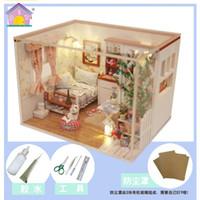 meninas modelo venda por atacado-Nova Hoomeda M024 DIY Dollhouse Miniaturas Modelo Kit Pouco Felicidade Montagem Artesanato Presente Para Crianças Meninas Adulto