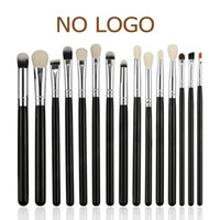 Wholesale Natural Wood Pieces - BEILI Black 15 Pieces Eye shadow Concealer eyeliner Eyebrow Natural Goat Pony Synthetic Hair Makeup brush Set
