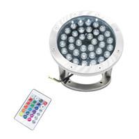 éclairage sous-marin pour piscines achat en gros de-Edison2011 12 V 36 W RGB LED Lumières Sous-Marines Étang Piscine Fontaine Tache Spot Lampes IP68 Étanche Spotlight