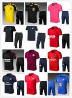 Wholesale new train sets - new 2018 real madrid Soccer training suit short sleeve set 17 18 RONALDO BALE ISCO KROOS BENZEMA soccer jerseys tracksuit shirts