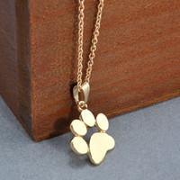 Wholesale Footprints Pendant - Fashion Cute Pets Dogs Footprints Paw Chain Pendant Necklace Choker Necklaces & Pendants Jewelry for Women Statement necklace