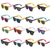 Wholesale baby sunglasses for sale - Outdoor Children Polarized Sunglasses Classic Fashion summer Silicone Soft Anti Radiation polarized baby Sunglasses UV400 styles LJJG24