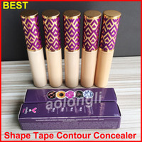 Wholesale foundation sand - Best Quality Shape Tape Concealer Contour 5 Colors Fair Light Light Medium Medium Light Sand 10ml concealer Face liquid foundation DHL free