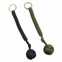 Wholesale multifunctional bracelets for sale - Group buy Outdoor Steel Ball Security Protection Bearing Self Defense Rope Lanyard Survival Tool Key Chain Multifunctional Keychain Bracelets NY008