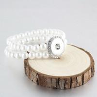 noosa perlen schnappen großhandel-18mm noosa perle perlenarmband doppelschicht druckknöpfe armbänder armreif für frauen dame mädchen schmuck geschenke großhandel dhl free