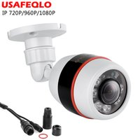 Wholesale infrared led array resale online - USAFEQLO Wide Angle mm Outdoor IP Camera PoE P P P ABS Case ONVIF Security Waterproof IP Camera CCTV ARRAY LED
