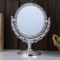 противостоять зеркалам оптовых-Двухсторонний макияж косметическое Бритье круглое зеркало ванна стол бесплатная подставка