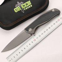 ingrosso coltello f95-Lega verde F95 D2 pieghevole in titanio titanio TC4 lega + impugnatura G10, lama da campeggio caccia da tasca pratico frutto strumento EDC