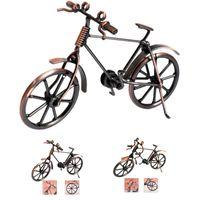 ingrosso bicicletta del metallo giocattolo-Home Decoration Retro Metal Bike Modello Craft Bicicletta Figurine Per Amico I migliori regali Bambini Giocattolo di compleanno presente Artigianato da tavolino