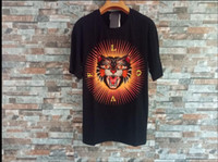 Wholesale Leopard Print Tshirts - New Summer Mens T-shirt Leopard Embroidery Tops Tees fitness Women Cotton Tshirts LOVE Angry Cat t shirt brand clothing Black