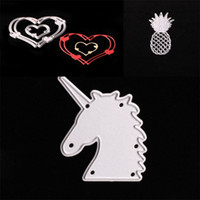 Wholesale metal fan feng shui resale online - Unicorn Embossing Cutting Dies Creative Paper Steel Carbon Craft Decor Mould For Scrapbooking Stencils DIY Album Cards sx Y
