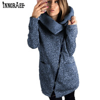 Wholesale womens long length coats - Plus Size Winter Coats Fashion Side Zipper Loose Female Bomber Windbreaker Womens Spring Jackets Long Jacket NS8578