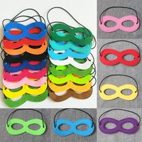Wholesale masquerade wedding decor for sale - Group buy Party Masks Felt Halloween Half Face Mask Party Decoration Masquerade Masks Craft Supplies Party Supplie Christmas Decor Free DHL WX9
