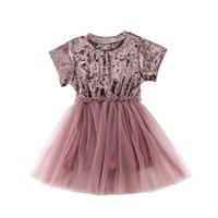 ingrosso abiti da principessa baby vestiti-Prendisole abito da damigella d'onore per bambini