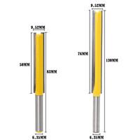 "Wholesale Extra Power - 2pcs set Extra Long Flush Trim Router Bit - 1 4"" Shank Woodworking DIY Tools"