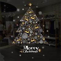 ingrosso adesivo di natale-Decorazione natalizia Vetrofania Holiday Store Adesivo autoadesivo Adesivo da parete per camera da letto Adesivo da parete per albero di Natale