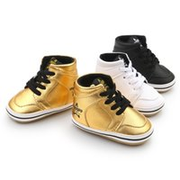 кожаные ботинки для девочек оптовых-Hot sale Fashion Baby boots Casual Girls boys Infantil First walkers Hard sole Pu leather Anti-slip Lace-up Baby shoes