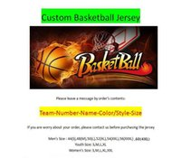 Wholesale tops women s numbered - Custom Basketball Jereys All 30 Teams Any Name Number Stitched Top Quality Mens Women Youth Kids Tollders