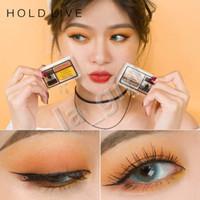 sombra de duas cores venda por atacado-Segure ao vivo Preguiçoso Two-tone Eyeshadow acessível Protable dupla cor Sombras de cor correção de maquiagem cosméticos fácil de usar