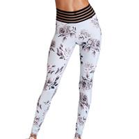 calças de ballet sexy venda por atacado-Leggin Elástico Sexy Push Up Calças de Fitness Mulheres Flor Impressão Drop Shipping Leggings Magro Não Transparente Esportiva Legging