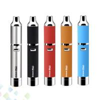 batería dual vape al por mayor-Auténtico Yocan Evolve Plus Kit Quartz Dual Coil Cera Pluma Vaporizador Vape 1100mAh Batería Cigarrillo electrónico DHL gratis