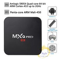 Wholesale MXQ Pro K TV Box Amlogic S905X Quad Core GB Flash Android Ultra K Streaming full load K box