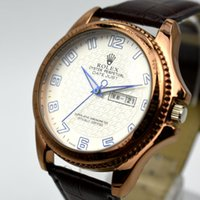 Wholesale Top Swiss Watches For Men - 42 mm Replica Men's watch Swiss Top Luxury Brand Fashion Watches 3ATM Waterproof High Quality Leather Dress Watch For Man Casual Watches