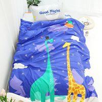 Wholesale twin kids bedding set online - Cartoon Animal pc Bedding Set Duvet Cover Bed Sheet Pillow Case Bed Linen Set for Kids Children