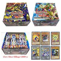 ingrosso yugioh card-288PCS / Set Yu Gi Oh Collezione Game Card Yugioh Cards Figure Toy English Version Giochi da tavolo DDA612