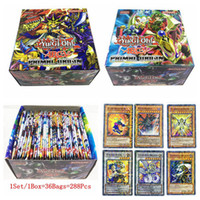Wholesale oh cards - 288PCS Set Yu Gi Oh Game Collection Card Yugioh Cards Figure Toy English Version Board Games DDA612
