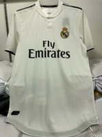 Wholesale uniforms dhl - DHL Free shipping Champions League Player Version Soccer Jersey 2018 19 Real Madrid Home Soccer shirt RONALDO KROOS Football uniform S-XXXL