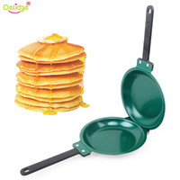 Wholesale porcelain tools for sale - Group buy Omelet Pans Delidge Pc cm Porcelain Frying Pan Steel Non Stick Flip Pancake Machine Cake Muffin Breakfast Kitchen Baking Tools