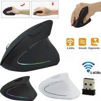 mouse digital sem fio para laptop venda por atacado-Dedo Sem Fio Bateria Mouse Opto-electronic 2.4 GHz jogo Design Ergonômico Vertical mouse 1600 DPI USB Mice para PC Gaming Laptops