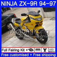 Wholesale 96 kawasaki zx9r online - Body For KAWASAKI NINJA ZX900 ZX9R HM ZX R ZX R CC ZX R Light yellow new1994 Fairing kit