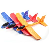 Wholesale toy planes fly - kids DIY Classic Education Flying Power hand throwing toy plane throwing foam aircraft cyclotron glider EPP Pincha model gift