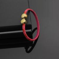 Wholesale Gold Bracelets For Kids - New Brand 316L Titanium Steel Bracelet 18K Gold Plated Narrow Comfortable Bracelet for Girls or Kids Bracelets Gift